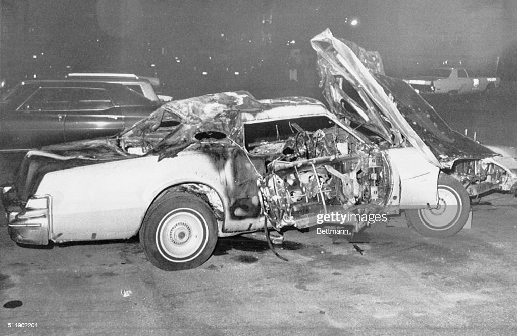 Alex Birns' Destroyed Car : News Photo