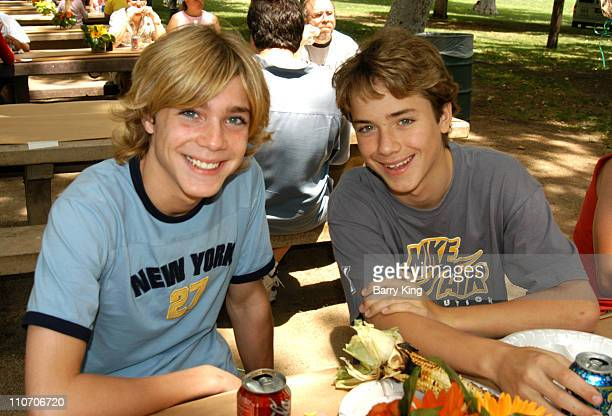 Alex Black and Jeremy Sumpter during Accenture 4th Annual Walk For Kids to Benefit the Los Angeles Ronald McDonald House at Griffith Park in Los...