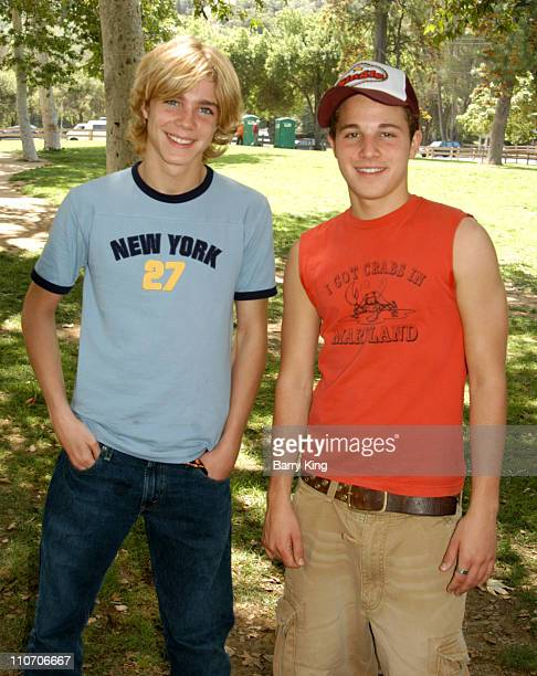 Alex Black and Shawn Pyfrom during Accenture 4th Annual Walk For Kids to Benefit the Los Angeles Ronald McDonald House at Griffith Park in Los...