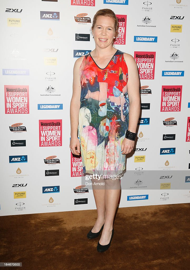Alex Blackwell arrives at the 'I Support Women In Sport' awards at The Ivy Ballroom on October 15, 2013 in Sydney, Australia.