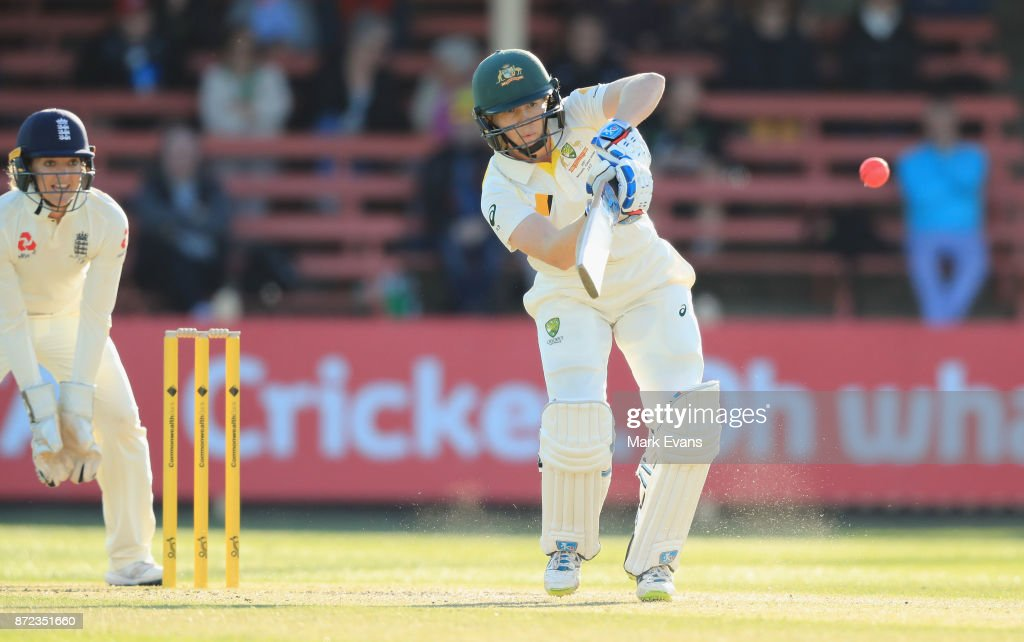 Alex Blackwell of Australia bats during day two of the Women's Test match between Australia and England at North Sydney Oval on November 10, 2017 in Sydney, Australia.