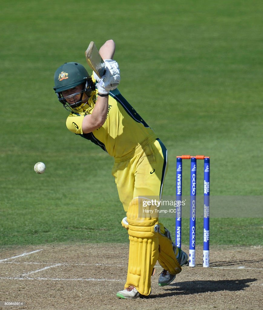 Alex Blackwell of Australia bats during the ICC Women's World Cup 2017 match between Australia and New Zealand at The County Ground on July 2, 2017 in Bristol, England.