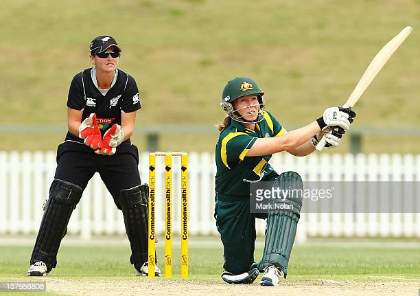 Alex Blackwell of Australia bats during the Women's Oneday International match between the Australian Southern Stars and New Zealand at Blacktown...