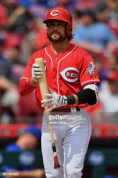 Alex Blandino of the Cincinnati Reds bats against the Chicago Cubs at Great American Ball Park on May 19 2018 in Cincinnati Ohio Alex Blandino