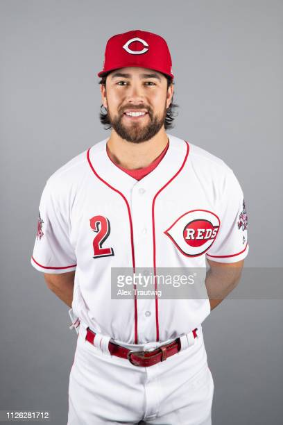 Alex Blandino of the Cincinnati Reds poses during Photo Day on Tuesday February 19 2019 at Goodyear Ballpark in Goodyear Arizona