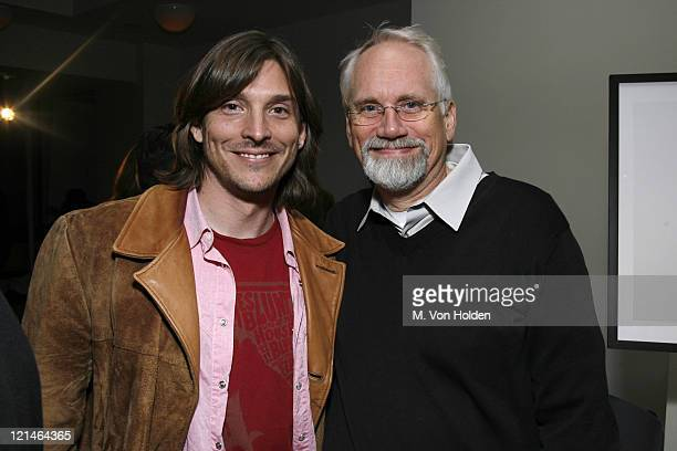 Alex Bogusky and Dan Wieden during The One Club and Weiden and Kennedy honor ' Jim Riswold' at The Helen Mills Theatre in New York City New York...