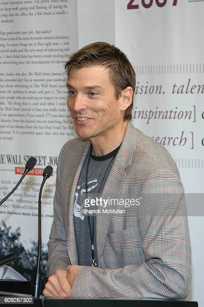 Alex Bogusky attends THE WALL STREET JOURNAL Hosts a Breakfast Honoring CREATIVE LEADERS PAST PRESENT at The Museum of Modern Art on July 17 2007 in...