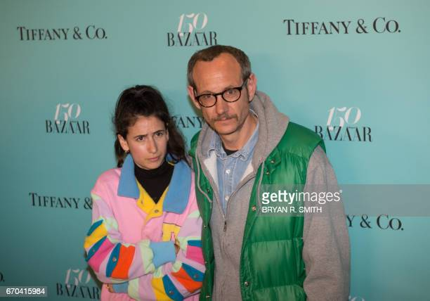 Alex Bolotow and photographer Terry Richardson arrive for the Harper's Bazaar and Tiffany Co celebration of 150 years of women fashion and New York...