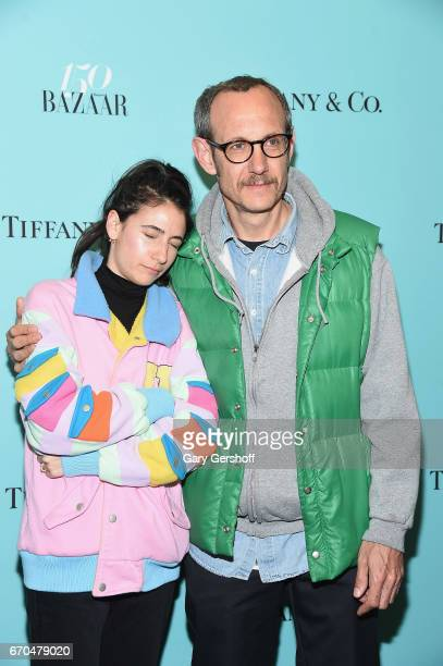 Alex Bolotow and photographer Terry Richardson attend Harper's BAZAAR 150th Anniversary Party at The Rainbow Room on April 19 2017 in New York City