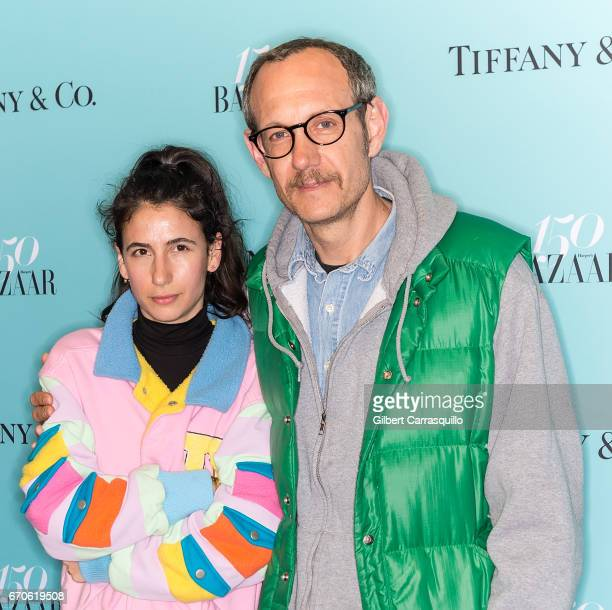 Alex Bolotow and photographer Terry Richardson attend Harper's BAZAAR 150th Anniversary Event presented with Tiffany Co at The Rainbow Room on April...
