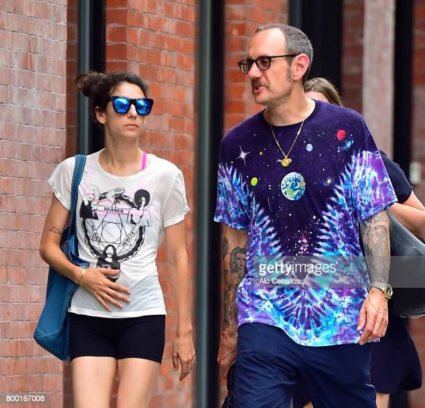 Alex Bolotow and Terry Richardson are seen in Soho on June 23 2017 in New York City