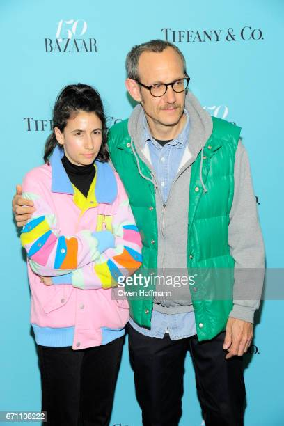 Alex Bolotow and Terry Richardson attend Harper's Bazaar 150th Anniversary Party at The Rainbow Room on April 19 2017 in New York City
