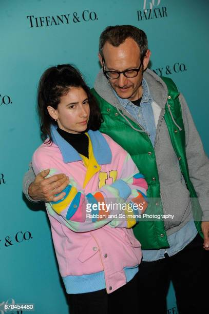 Alex Bolotow and Terry Richardson attends the Harper's Bazaar 150th Anniversary Party at The Rainbow Room on April 19 2017 in New York City