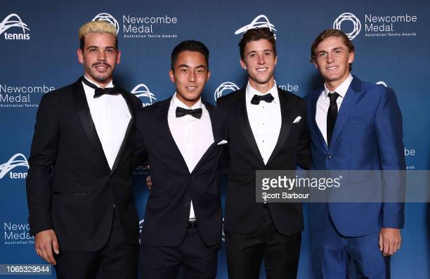 Alex Bolt Rinky Hijikata Andrew Harris and Max Purcell pose ahead of the Newcombe Medal at Crown Entertainment Complex on November 26 2018 in...