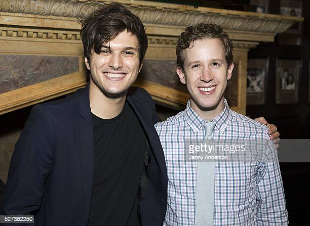 Alex Boniello and Alex Wyse attend 2016 Fred Adele Astaire Awards Nominations Party at The Friars Club on May 2 2016 in New York City