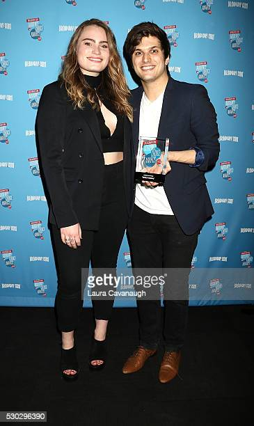 Alex Boniello and Kathryn Gallagher attend 2016 Broadwaycom Audience Choice Awards Reception at 48 Lounge on May 10 2016 in New York City