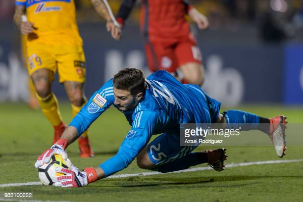 Alex Bono goalkeeper of Toronto holds the ball during the quarterfinals second leg match between Tigres UANL and Toronto FC as part of the CONCACAF...