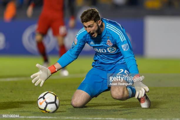 Alex Bono goalkeeper of Toronto receives the ball during the quarterfinals second leg match between Tigres UANL and Toronto FC as part of the...