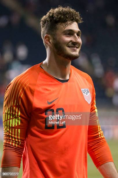 Alex Bono of the United States walks off the field after the friendly soccer match against Bolivia at Talen Energy Stadium on May 28 2018 in Chester...