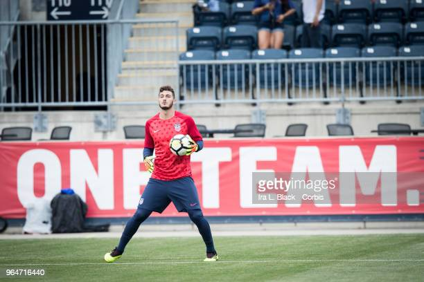 Alex Bono of the US Men's National Team warms up before the International Friendly Match between United States Men's National Team v Bolivia at Talen...