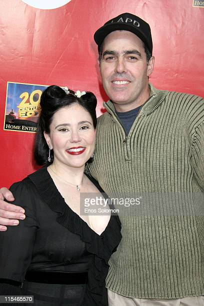 Alex Borstein and Adam Carolla during Alex Borstein's ''Drop Dead Gorgeous'' DVD Release Presented By Fox Home Entertainment at ACME Comedy Theatre...