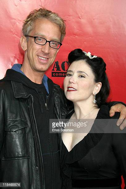 Alex Borstein and Andy Dick during Alex Borstein's ''Drop Dead Gorgeous'' DVD Release Presented By Fox Home Entertainment at ACME Comedy Theatre in...