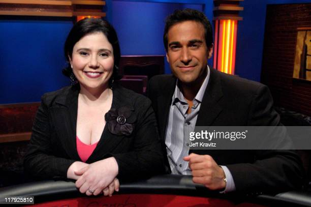 Alex Borstein and Matt Vasgersian during GSN the Network for Games Presents 'Celebrity Blackjack' Finals at Hollywood Center Studios Stage 9 in Los...