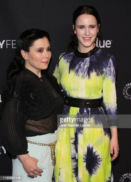 """Alex Borstein and Rachel Brosnahan attend The Paley Center For Media's 2019 PaleyFest LA - Opening Night Presentation: Amazon Prime Video's """"The..."""