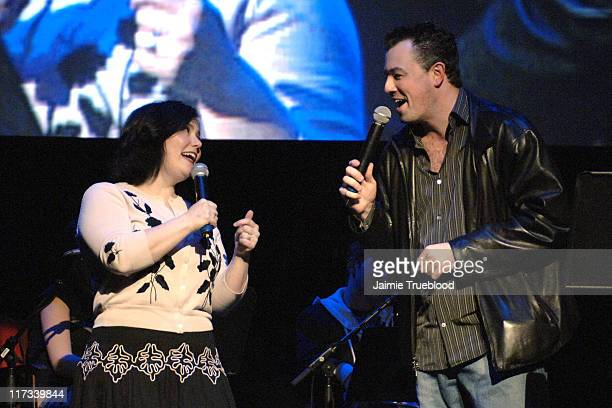 Alex Borstein and Seth MacFarlane creator during 'Family Guy' Live at El Capitan in Los Angeles California United States