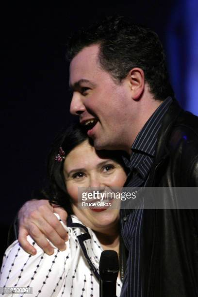 Alex Borstein and Seth MacFarlane during Just for Laughs Presents 'Family Guy Live' at Town Hall in New York City New York United States
