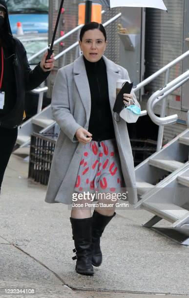 "Alex Borstein is seen on the set of ""The Marvelous Mrs. Maisel"" on April 16, 2021 in New York City."