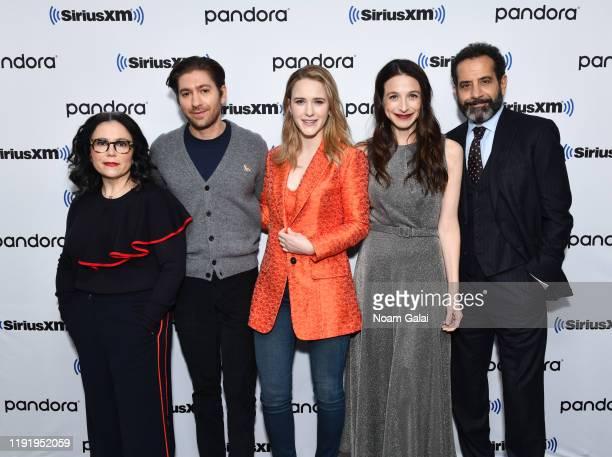 Alex Borstein, Michael Zegen, Rachel Brosnahan, Marin Hinkle and Tony Shalhoub attend SiriusXM's Town Hall with the cast of 'The Marvelous Mrs....