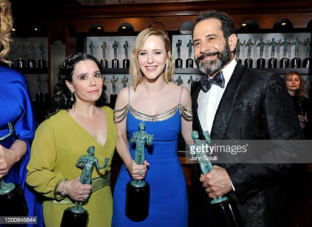 Alex Borstein Rachel Brosnahan and Tony Shalhoub Winners of Outstanding Performance by an Ensemble in a Comedy Series for 'The Marvelous Mrs Maisel'...