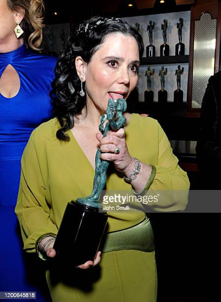 Alex Borstein Winner of Outstanding Performance by an Ensemble in a Comedy Series for 'The Marvelous Mrs Maisel' poses in the trophy room during the...