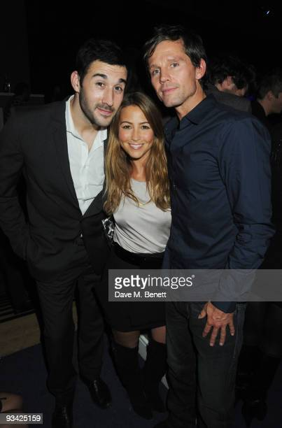 Alex Bourne and singers Rachel Stevens and Jason Orange attend the SingStar Take That Extravaganza at the Tabernacle on November 25 2009 in London...