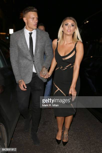 Alex Bowen and Olivia Buckland attending the TV choice awards on September 4, 2017 in London, England.