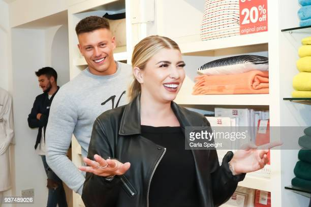 Alex Bowen and Olivia Buckland shopping for their new home in Arighi Bianchi ahead of their wedding on March 24 2018 in Macclesfield England