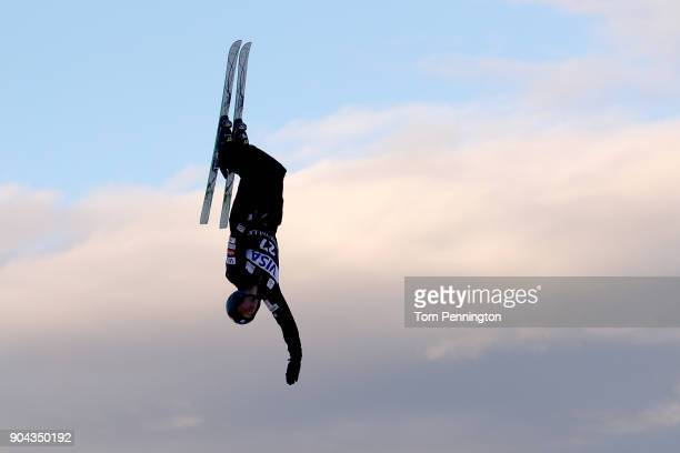 Alex Bowen of the United States competes in the Men's Aerials qualifying during the 2018 FIS Freestyle Ski World Cup at Deer Valley Resort on January...