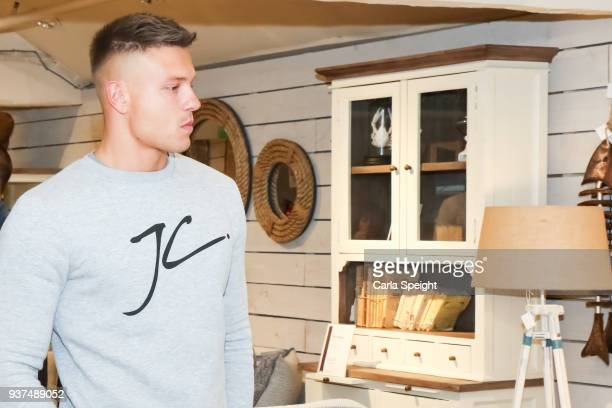 Alex Bowen shopping for his new home with Olivia Buckland in Arighi Bianchi ahead of their wedding on March 24 2018 in Macclesfield England