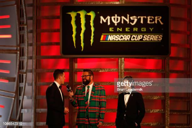 Alex Bowman and Ryan Blaney attend the Monster Energy NASCAR Cup Series Awards Celebration at the Wynn Las Vegas on November 29 2018 in Las Vegas...