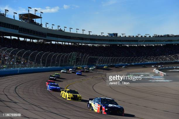 Alex Bowman, driver of the Axalta Chevrolet, races during the Monster Energy NASCAR Cup Series Bluegreen Vacations 500 at ISM Raceway on November 10,...