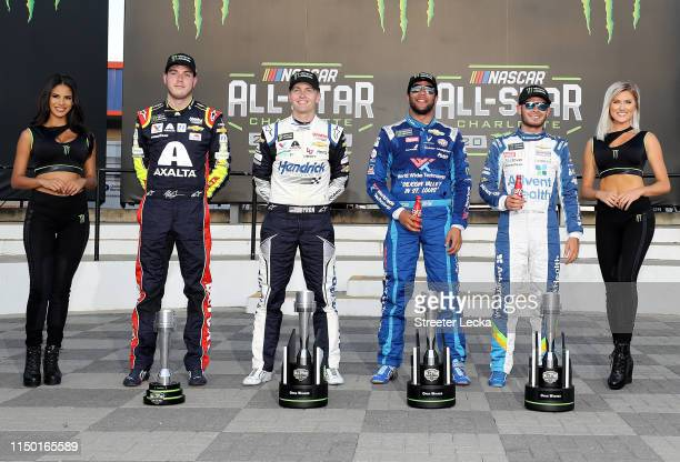 Alex Bowman driver of the Axalta Chevrolet William Byron driver of the Hendrick Autoguard Chevrolet Bubba Wallace driver of the World Wide Technology...