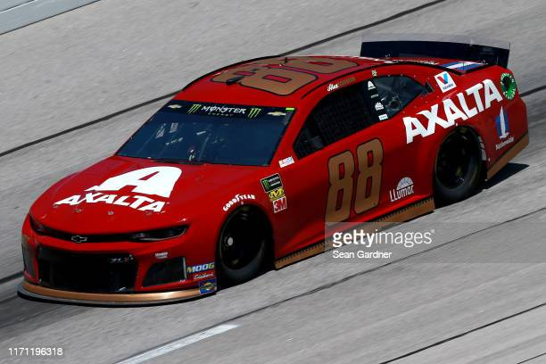 Alex Bowman driver of the Axalta Throwback Chevrolet practices for the Monster Energy NASCAR Cup Series Bojangles' Southern 500 at Darlington Raceway...