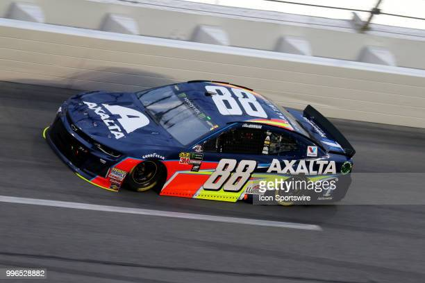 Alex Bowman driver of the Azalta Chevy during the Coke Zero 400 Monster Energy Cup Series race on July 7 at Daytona International Speedway in Daytona...
