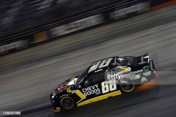 Alex Bowman driver of the ChevyGoodscom/Adam's Polishes Chevrolet drives during the NASCAR Cup Series AllStar Race at Bristol Motor Speedway on July...
