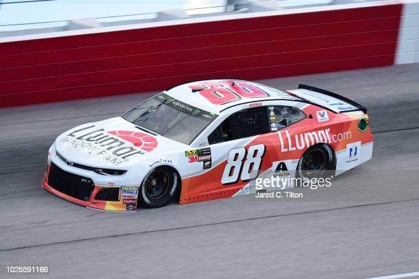 Alex Bowman driver of the LLumar Chevrolet drives during practice for the Monster Energy NASCAR Cup Series Bojangles' Southern 500 at Darlington...