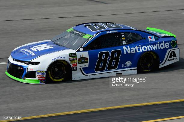 Alex Bowman driver of the Nationwide Chevrolet drives during practice for the Monster Energy NASCAR Cup Series Federated Auto Parts 400 at Richmond...