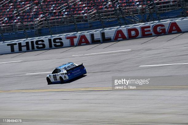 Alex Bowman driver of the Nationwide Chevrolet practices for the Monster Energy NASCAR Cup Series GEICO 500 at Talladega Superspeedway on April 26...