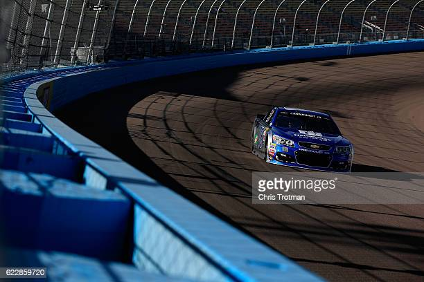 Alex Bowman driver of the Nationwide Chevrolet practices for the NASCAR Sprint Cup Series CanAm 500 at Phoenix International Raceway on November 12...