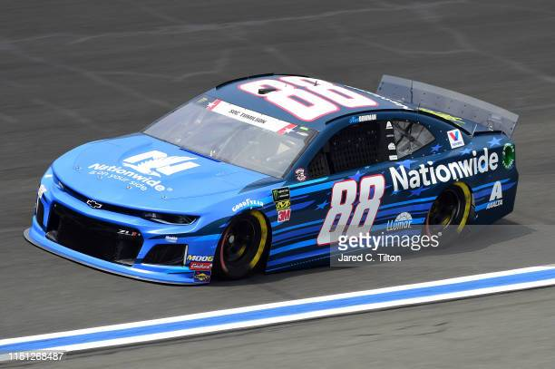 Alex Bowman driver of the Nationwide Patriotic Chevrolet practices for the Monster Energy NASCAR Cup Series CocaCola 600 at Charlotte Motor Speedway...